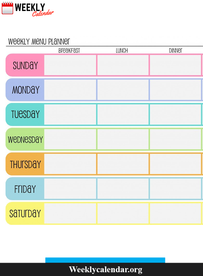 Few More Weekly Calendar