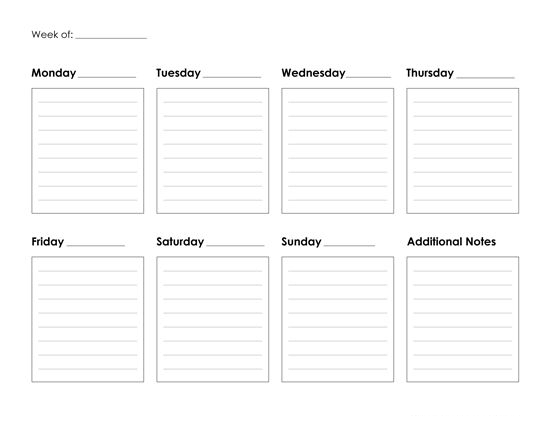 Printable Weekly Calendar For Teacher